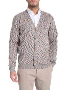Missoni - Beige cardigan with flamed pattern