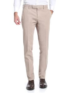 Brooks Brothers - Beige diagonal fabric trousers