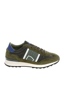 """Philippe Model - """"Toujours L"""" green camouflage sneakers"""