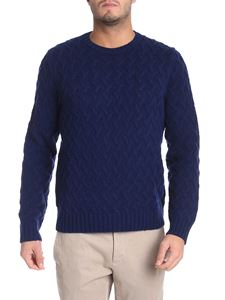 Brooks Brothers - Blue pullover with embossed pattern