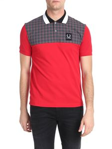 Raf Simons X Fred Perry - Red polo with check insert