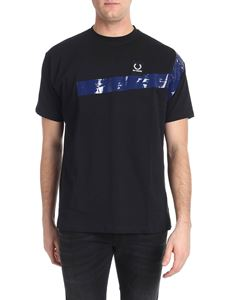 Raf Simons X Fred Perry - Black t-shirt with black logo label