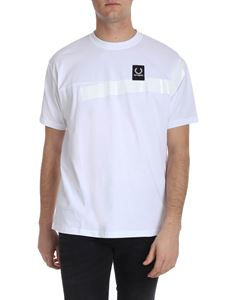 Raf Simons X Fred Perry - White t-shirt with black logo label