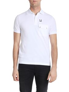 Raf Simons X Fred Perry - White polo with branded label
