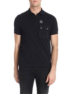 Raf Simons X Fred Perry - Black polo with branded label