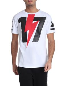 Hydrogen - White t-shirt with black and red print
