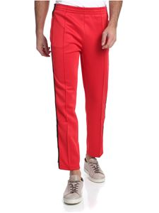 Hydrogen - Red pants with branded stripes