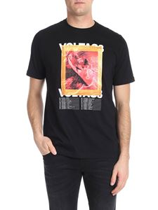 "Diesel - T-shirt ""T-Just-Xx"" nera stampa multicolor"