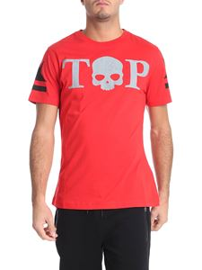 Hydrogen - Red t-shirt with reflective logo print