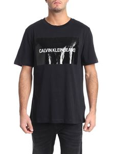 Calvin Klein Jeans - Black t-shirt with coated logo print