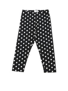 Monnalisa - Black leggings with polka dot print