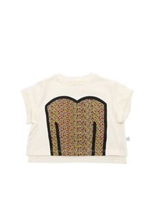 Stella McCartney Kids - T-shirt color crema stampa multicolor