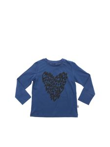 Stella McCartney Kids - T-shirt blu stampa cuori