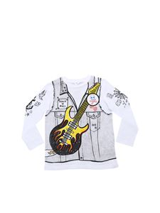 Stella McCartney Kids - White guitar print t-shirt
