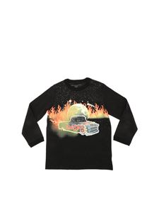 Stella McCartney Kids - Black car print T-shirt