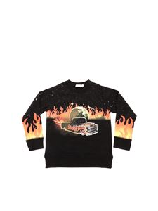 Stella McCartney Kids - Black car print sweatshirt