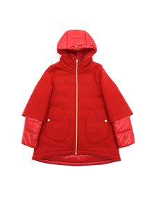 Herno - Red wool coat with hood