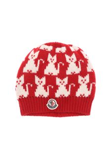 Moncler Jr - Red hat with  cats