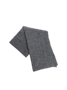 Kangra Cashmere - Grey scarf with lamé inserts