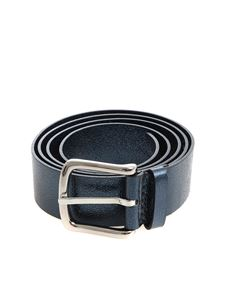 Orciani - Blue metallic leather belt