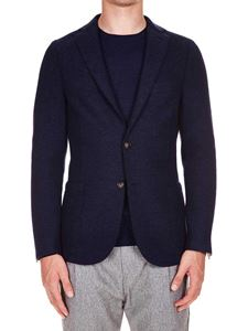 Eleventy - Blue single-breasted half-lined jacket