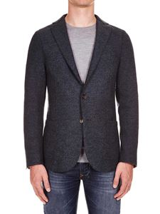 Eleventy - Grey single-breasted half-lined jacket