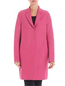 "Harris Wharf London - Fuchsia ""Cocoon"" coat"