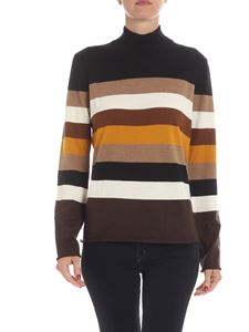 Altea - Wool pullover in shades of brown