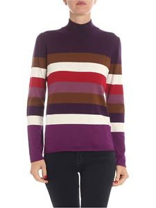 Altea - Wool pullover with multicolor stripes