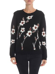 Altea - Pullover nero in misto lana