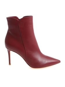"""Gianvito Rossi - """"Levy 85"""" burgundy ankle boots"""