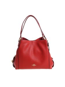 Coach - Red leather bag with golden logo