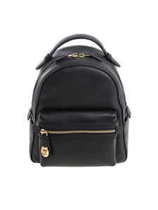 Coach - Hammered black leather backpack