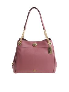 Coach - Pink leather shoulder bag