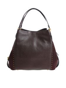 Coach - Burgundy leather shoulder bag