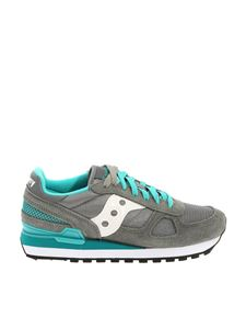 "Saucony - Grey and turquoise ""Shadow Original"" sneakers"