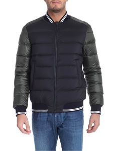 Herno - Black and green down jacket with logo