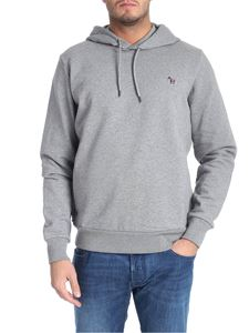 PS by Paul Smith - Grey melange sweatshirt with logo patch