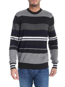 PS by Paul Smith - Striped pullover in shades of grey