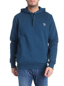PS by Paul Smith - Teal blue sweatshirt with logo patch