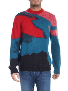 PS by Paul Smith - Red and golden tricot pullover