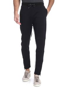 PS by Paul Smith - Pantalone nero con zip laterali
