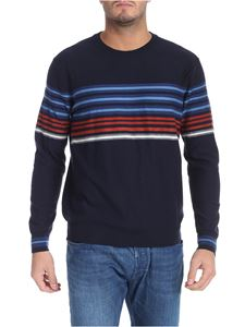 PS by Paul Smith - Blue pullover with multicolor stripes