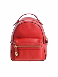 Coach - Red hammered leather backpack