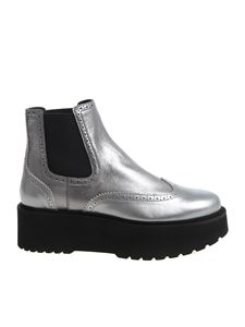 "Hogan - Silver ""H355"" ankle boots"