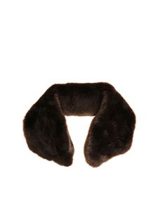 Tagliatore - Brown eco-fur collar