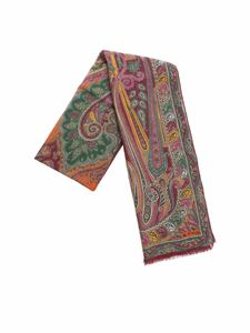 "Etro - ""Delhy"" wine colored pashmina"