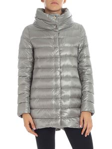 Herno - Grey down jacket with crater collar