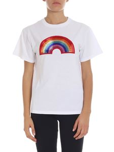 "Alberta Ferretti - ""Rainbow"" white short sleeves t-shirt"