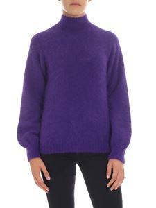 Alberta Ferretti - Purple pullover with stand up collar